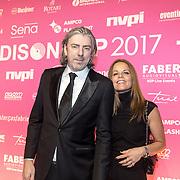 NLD/Amsterdam/201702013- Edison Pop Awards 2017, Ruud de Wild en partner Nienke Knijn