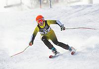 Alpine ski race for Division III high schools at Gunstock.  Karen Bobotas Photographer