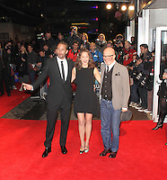 LONDON - OCTOBER 13: Matthias Schoenaerts; Marion Cotillard; Jacques Audiard attended the screening of 'Rust And Bone' at the Odeon West End, Leicester Square, London, UK. October 13, 2012. (Photo by Richard Goldschmidt)