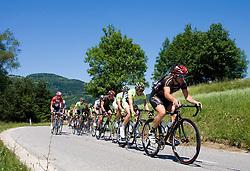 Peloton at 2nd stage of Tour de Slovenie 2009 from Kamnik to Ljubljana, 146 km, on June 19 2009, Slovenia. (Photo by Vid Ponikvar / Sportida)