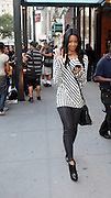 Vanessa Simmons at The 2010 Mercedes Benz Fashion Week in front of The Bryant Park Hotel on September 14, 2009 in Nw York City