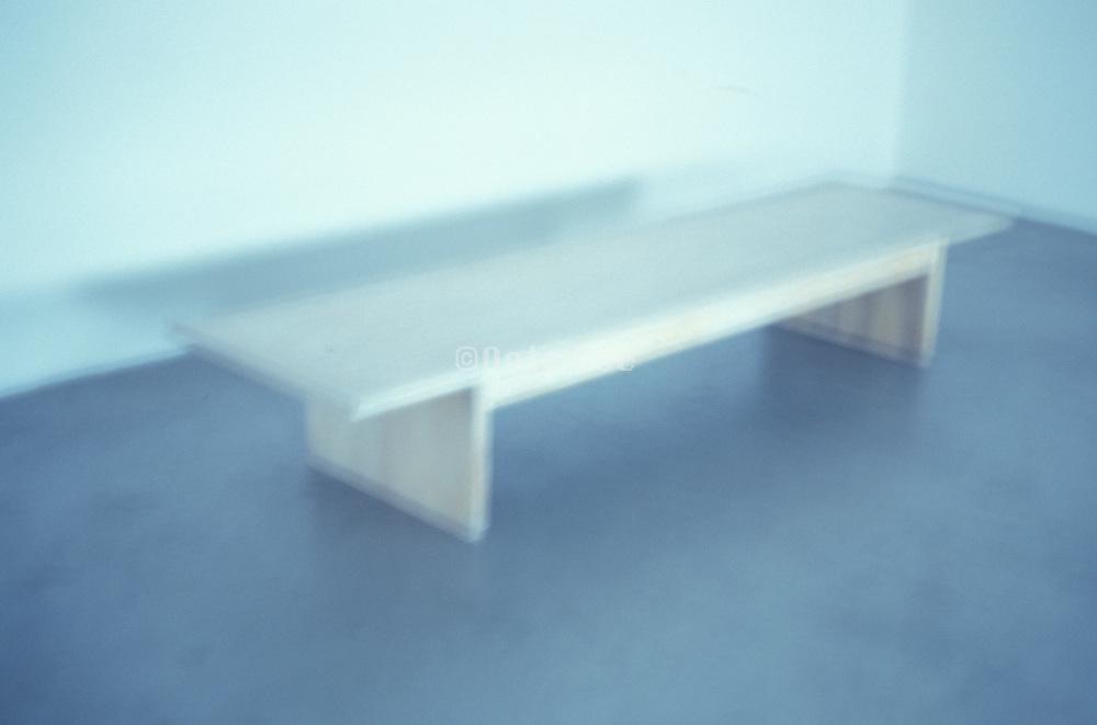 a bench inside