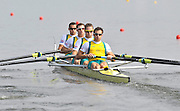 Poznan, POLAND,    AUS M4- Bow, Matthew RYAN, James MARBURG, Cameron MCKENZIE MCHARG and Francis HEGERTY  move away from the start pontoon in they semi final of the men's four, on the sixth day of the  2009 FISA World Rowing Championships. held on the Malta Rowing lake, Thursday  27/08/2009  [Mandatory Credit. Peter Spurrier/Intersport Images]