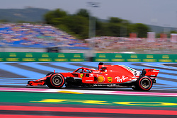 June 22, 2018 - Le Castellet, Var, France - Ferrari 5 Driver SEBASTIAN VETTEL (GER) in action during the Formula one French Grand Prix at the Paul Ricard circuit at Le Castellet - France (Credit Image: © Pierre Stevenin via ZUMA Wire)