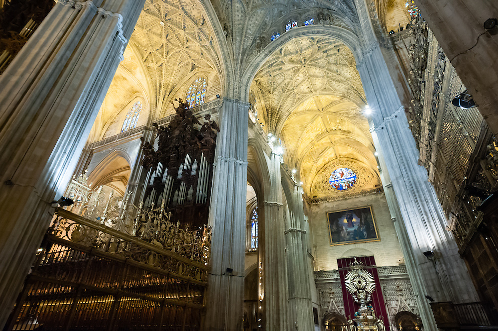 Interior of Sevilla Cathedral (Spain)