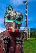 totems at Saxman Totem Park
