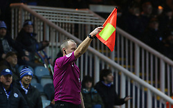 The assistant referee raises his flag to deny Peterborough United a late equalising goal - Mandatory by-line: Joe Dent/JMP - 03/02/2018 - FOOTBALL - ABAX Stadium - Peterborough, England - Peterborough United v Southend United - Sky Bet League One