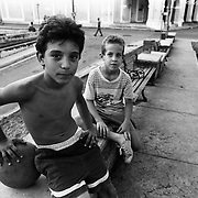 """The children of Havana."" Boys playing basketball in Matanzas, Cuba."