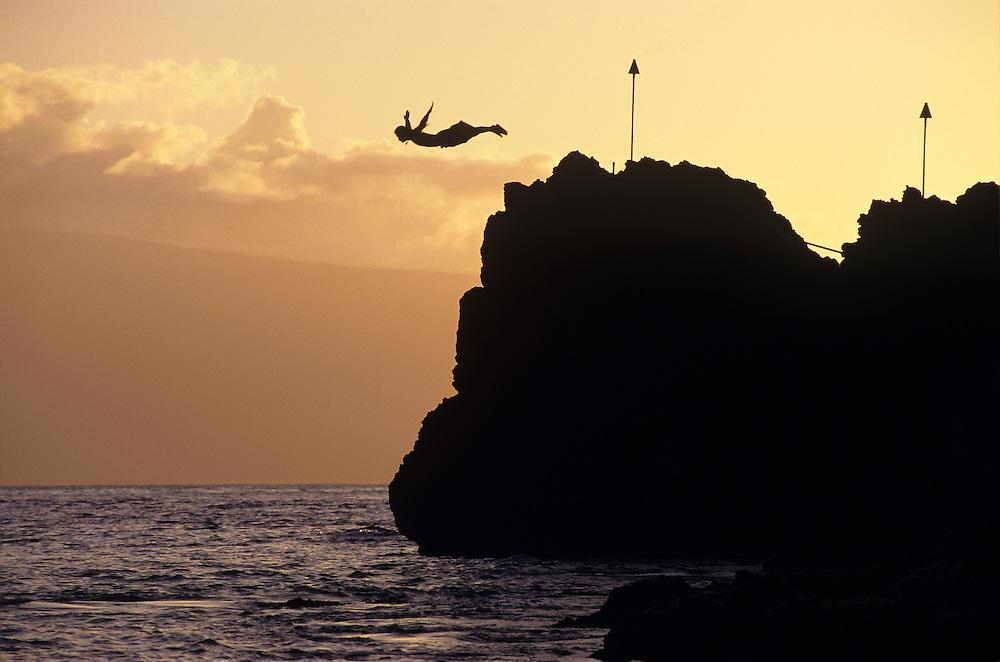 Hawaii, Maui, The Valley Island, Torch Lighting, Black Rock, Kaanapali