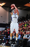 November 28, 2011; Moraga, CA, USA; Weber State Wildcats forward Kyle Bullinger (3) shoots the ball during the first half of the Shamrock Office Solutions Classic championship game against the Saint Mary's Gaels at McKeon Pavilion.