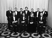 """People Of The Year Awards.1984..26.11.1984..11.26.1984..26th November 1984..The Tanaiste and Minister For Energy,Mr Dick Spring, presented a silver medallion and a scroll to eight men and one woman who were deemed to be """"People of the Year""""..The nine were selected by a panel of media editors.The awards were sponsored by New Ireland Assurance,Plc and presented at The Burlington Hotel,Dublin.The winners were:..Mr John Bermingham for his work in rehabilitating the physically and mentally handicapped..Ms Maeve Calthorpe for inspired work with the blind and visually impaired..Mr John Hume for his contribution to peace,democracy and the new Ireland Forum..Mr Patrick O'Connell, for fortitude in the face of grave illness and for fund raising..Drs Prem Puri and Barry O'Donnell,for their contribution to Medical Science..Mr Michael O'Hehir, for his contribution to broadcasting..Mr Fergal Quinn, for dynamic management in the public and private sectors..The special adjudicators award was given to Mr John Parker for his work in revitalising Harland and Wolff shipyard...Picture shows a group shot of The Tanaiste,Mr Dick Spring TD and Mr Kevin O'Donnell,Managing Director,New Ireland Assurance,Plc with the award winners..Front row (L-R),.Mr Patrick O'Connell,Mr Dick Spring,Ms Maeve Calthorpe and Mr John Parker..Back row (L-R),.Dr Barry O'Donnell,Mr Fergal Quinn,Dr Prem Puri,Mr John Hume,Mr Michael O'Hehir,Mr John Bermingham and Mr Kevin O'Donnell."""