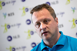 Borut Plaskan of RK Gorenje Velenje at press conference of Slovenian Handball League before the Playoff, on March 15, 2017 in NLB Center inovativnega podjetnistva, Ljubljana, Slovenia. Photo by Matic Klansek Velej / Sportida