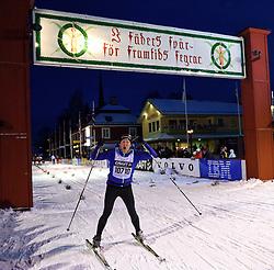 06-03-2016 SWE: Vasaloppet Challenge BvdGF day 7, Sälen<br /> Vandaag een rustig dagje, 90 km langlaufen van Sälen naar Mora in bizarre omstandigheden / Frank
