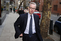 © Licensed to London News Pictures. 19/11/2018. London, UK. Michael Gove, Secretary of State for Environment, arrives at his department. Photo credit: Peter Macdiarmid/LNP