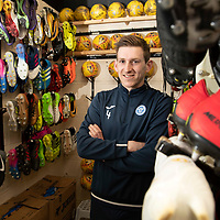 Blair Alston pictured in the boot room at McDiarmid Park after signing a new contract with St Johnstone FC…<br />Picture by Graeme Hart.<br />Copyright Perthshire Picture Agency<br />Tel: 01738 623350  Mobile: 07990 594431
