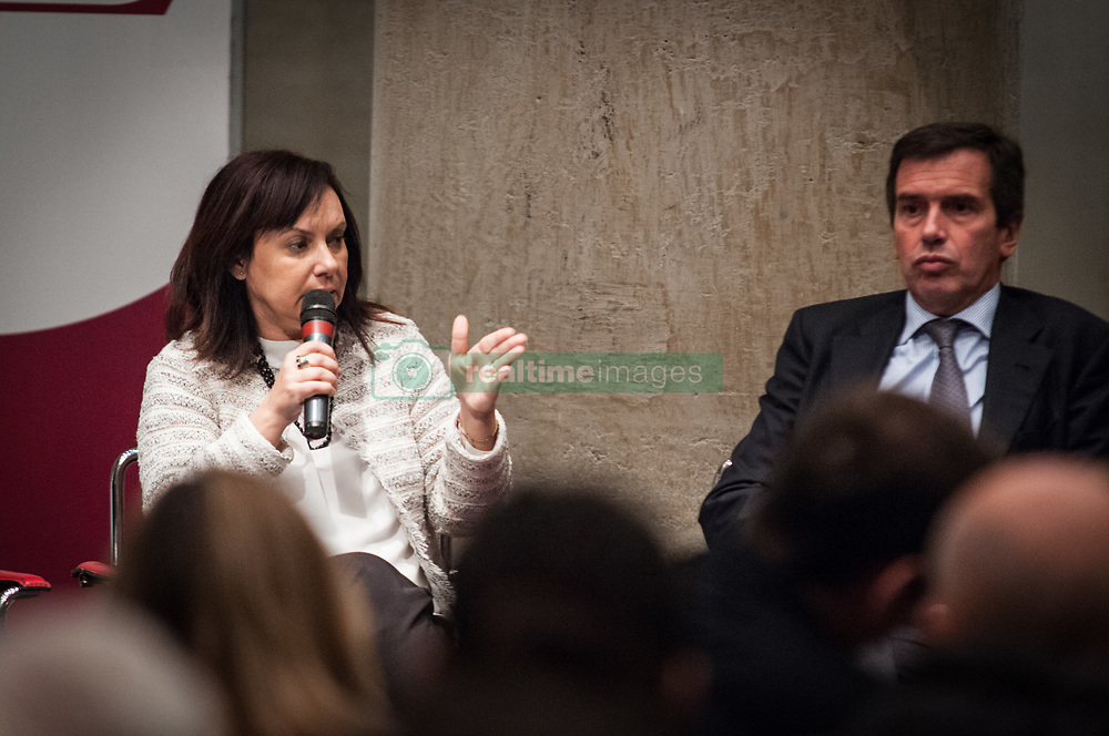 November 19, 2018 - Rome, Lazio, Italy - Nicolò Rebecchini President Acer with Rosalba Castiglione Councillor for Heritage and Housing Policies of the City of Rome conference organized by ACER ''Politiche dell'abitare a Roma''.of how to deal with housing problems in Rome  on November 19, 2018 in Rome , Italy  (Credit Image: © Andrea Ronchini/NurPhoto via ZUMA Press)