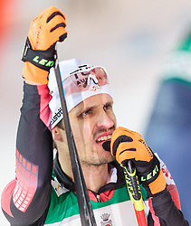 19.02.2016, Salpausselkae Stadion, Lahti, FIN, FIS Weltcup Nordische Kombination, Lahti, Langlauf, im Bild Lukas Klapfer (AUT) // Lukas Klapfer of Austria reacts during Cross Country Gundersen Race of FIS Nordic Combined World Cup, Lahti Ski Games at the Salpausselkae Stadium in Lahti, Finland on 2016/02/19. EXPA Pictures © 2016, PhotoCredit: EXPA/ JFK