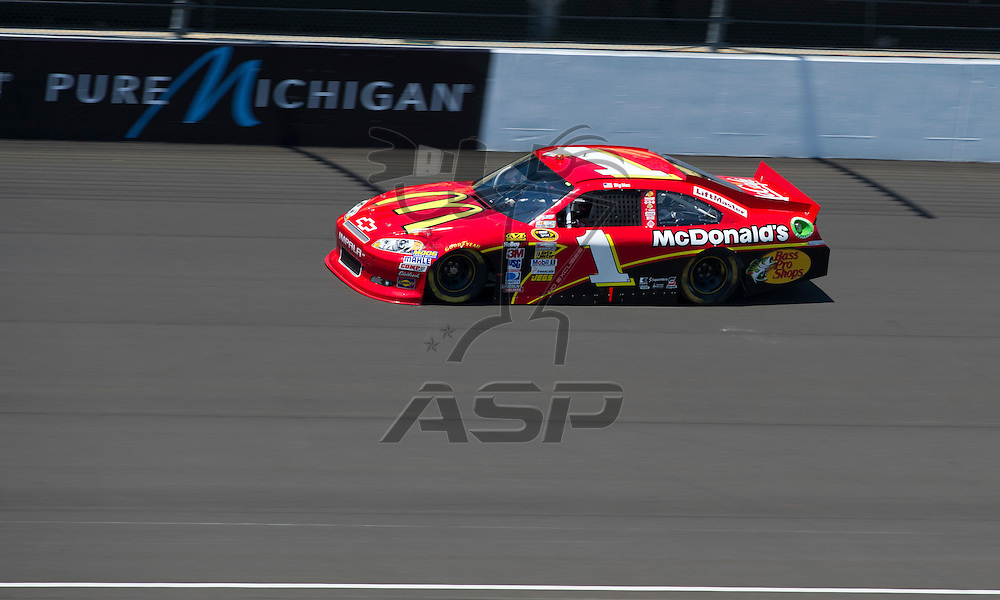 Brooklyn, MI - JUN 15, 2012: Jamie McMurray (1) during practice for the Quicken Loans 400 race at the Michigan International Speedway in Brooklyn, MI.