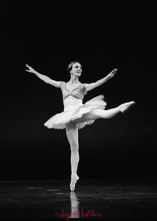 The Louisville Ballet is the only regional company to have had Mikhail Baryshnikov perform as an artist-in residence.  He danced with the company during the 1978-79 and 1979-80 seasons.  These photographs of him and Helen Starr were made October 17, 1979.