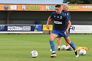 AFC Wimbledon midfielder Anthony Hartigan (8) warming up during the EFL Trophy (Leasing.com) match between AFC Wimbledon and U23 Brighton and Hove Albion at the Cherry Red Records Stadium, Kingston, England on 3 September 2019.