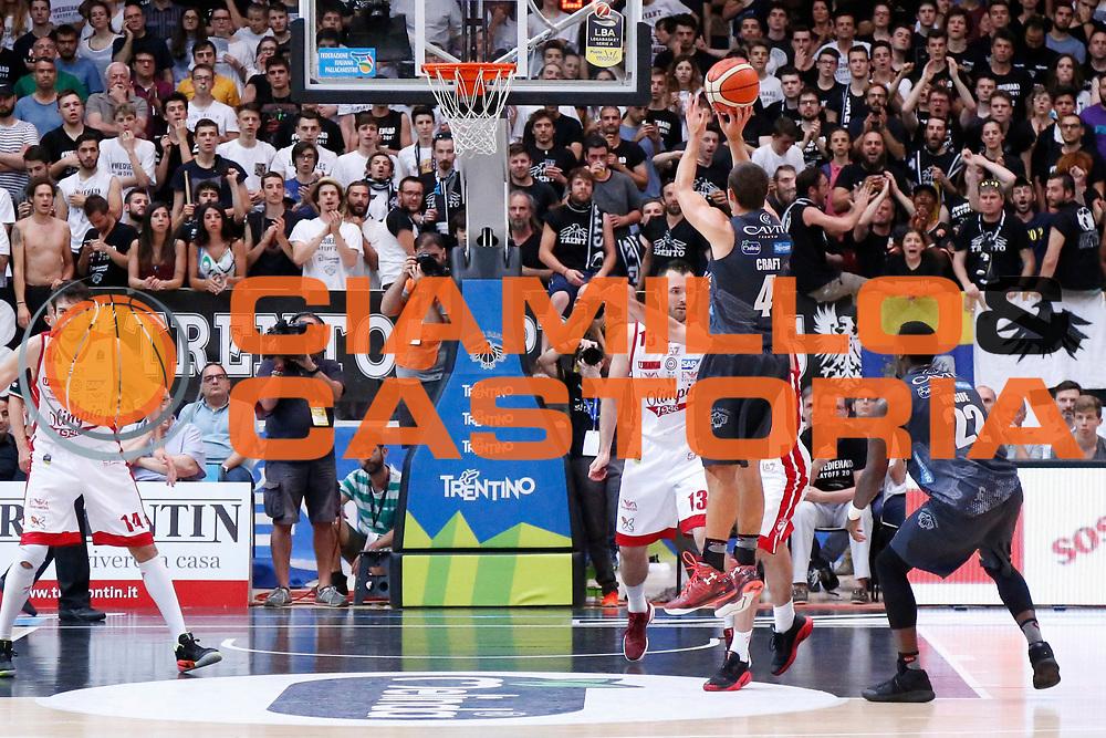 Aaron Craft<br /> Dolomiti Energia Aquila Basket Trento - EA7 Emporio Armani Olimpia Milano<br /> Semifinale Gara 4, Lega Basket Serie A 2016/2017<br /> PalaTrento 31/05/2017<br /> Foto Ciamillo-Castoria / M.Brondi