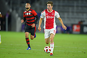 Ajax midefielder Carel Eiting (15) in action during a Florida Cup match against Flamengo at Orlando City Stadium on Jan. 10, 2019 in Orlando, Florida. <br /> Flamengo won in penalties 4-3.<br /> <br /> ©2019 Scott A. Miller