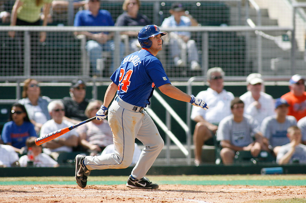 March 2, 2008 - Coral Gables, FL<br /> <br /> Dustin Bamberg #24 of the Florida Gators in action during their 6-2 victory over the Miami Hurricanes at Alex Rodriguez Park in Coral Gables, Florida.<br /> <br /> JC Ridley/CSM