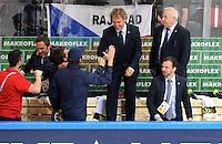 Joie Pierre Pousse / Dave Henderson - 12.05.2015 - Lettonie / France - Championnats du Monde Hockey sur Glace -Prague<br /> Photo : Xavier Laine / Icon Sport
