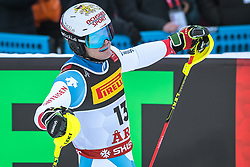 17.02.2019, Aare, SWE, FIS Weltmeisterschaften Ski Alpin, Slalom, Herren, 2. Lauf, im Bild Loic Meillard (SUI) // Loic Meillard of Switzerland reacts after his 2nd run of men's Slalom of FIS Ski World Championships 2019. Aare, Sweden on 2019/02/17. EXPA Pictures © 2019, PhotoCredit: EXPA/ Dominik Angerer