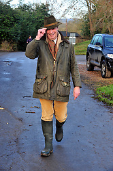 &copy; Licensed to London News Pictures.26/12/2017.<br /> CHIDDINGSTONE, UK.<br /> Nigel Farage arriving at the hunt meeting point at Chiddingstone Castle.<br /> Old Surrey Burstow and West Kent boxing day hunt at Chiddingstone Castle<br /> Photo credit: Grant Falvey/LNP