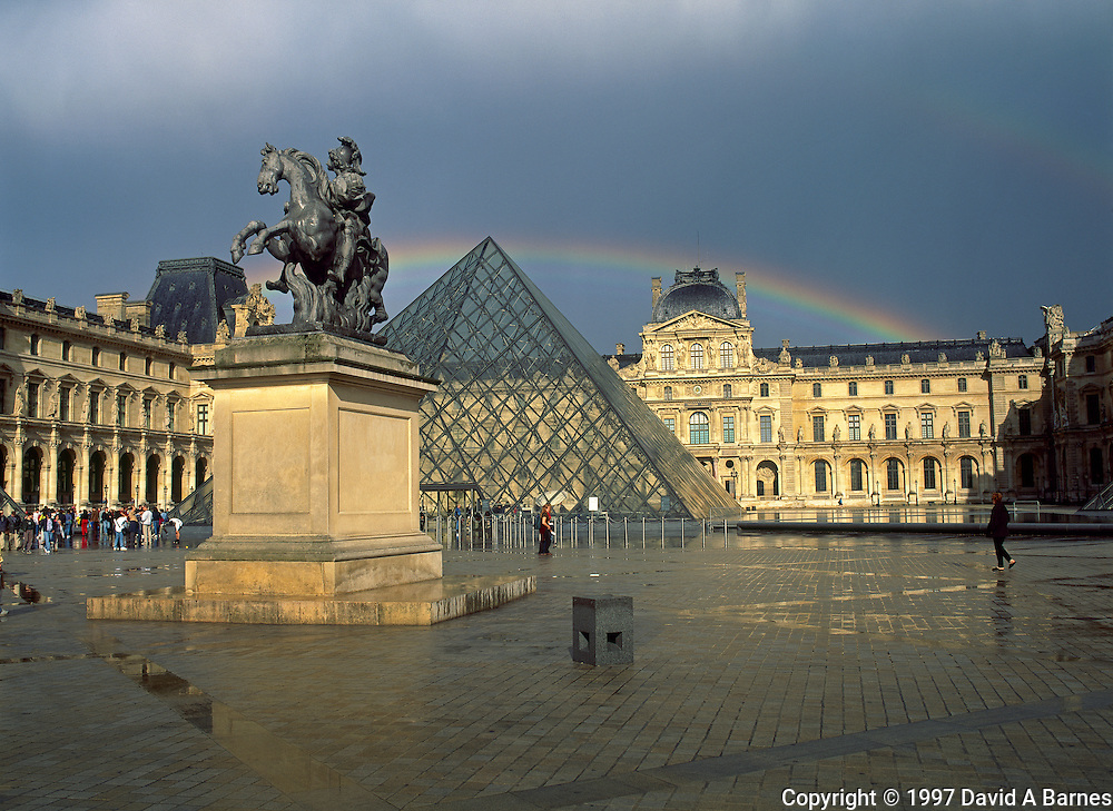 Rainbow, Louvre Pyramid, Paris, France