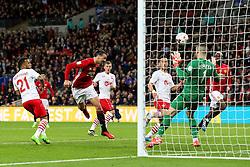 Zlatan Ibrahimovic of Manchester United scores his sides third goal   - Mandatory by-line: Matt McNulty/JMP - 26/02/2017 - FOOTBALL - Wembley Stadium - London, England - Manchester United v Southampton - EFL Cup Final
