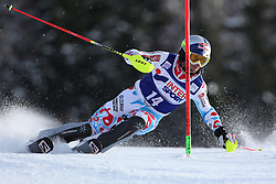 06.01.2014, Stelvio, Bormio, ITA, FIS Weltcup Ski Alpin, Bormio, Slalom, Herren, im Bild Alexis Pinturault // Alexis Pinturault  in action during mens Slalom of the Bormio FIS Ski World Cup at the Stelvio in Bormio, Italy on 2014/01/06. EXPA Pictures © 2014, PhotoCredit: EXPA/ Sammy Minkoff<br /> <br /> *****ATTENTION - OUT of GER*****