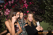 ROSANNA FALCONNER; SARAH-ANN MACKLIN; KELLY EASTWOOD, spotted at Bloom & Wild's exclusive event at 5 Hertford Street last night. 5 September 2017. The event was announcing the new partnership between the UK's most loved florist, Bloom & Wild and British floral design icon Nikki Tibbles Wild at Heart. Cocooned in swaths of vibrant Autumn blooms, guests enjoyed floral-inspired cocktails from Sipsmith and bubbles from Chandon, with canapés put on by 5 Hertford Street. Three limited edition bouquets from the partnership can be bought through Bloom & Wild's website from the 1st September.  bloomandwild.com/WAH