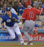 The Los Angele Dodgers played the Los Angeles Angels of Anaheim in the 2nd game of the pre-season freeway series at Dodger Stadium in Los Angeles, CA.  April 1, 2016.  (Photo by John McCoy/Los Angeles News Group)