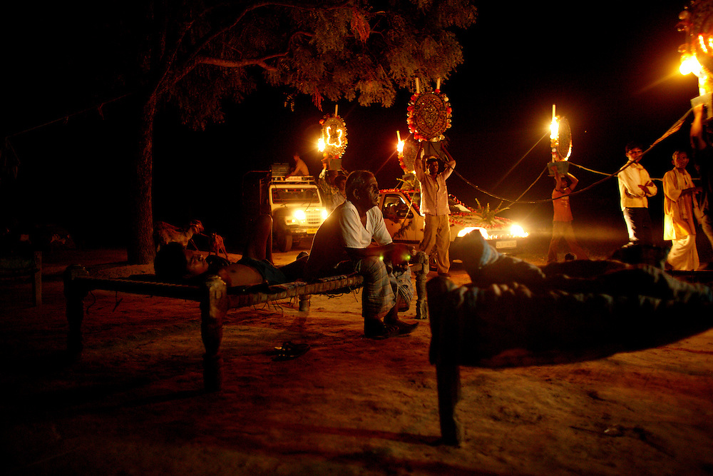 In the village of Madhcapura the prosession of Rajesh Rawat has just started moving towards his bride Ashita. Music, dancing and light cut through the quiet countryside night like a knife...The caste system in India was abolished by law 60 years ago, but is still deeply rooted in society where it is difficult but not impossible to move to a socially better place....Photo by: Eivind H. Natvig/MOMENT