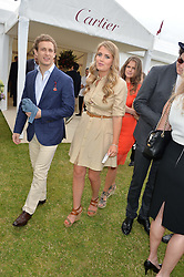 FRANCESCO CIARDI and LADY KITTY SPENCER at the Cartier Queen's Cup Polo final at Guard's Polo Club, Smiths Lawn, Windsor Great Park, Egham, Surrey on 14th June 2015