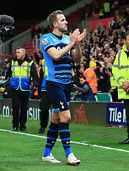 Harry Kane of Tottenham Hotspur applauds the fans - Mandatory by-line: Matt McNulty/JMP - 18/04/2016 - FOOTBALL - Britannia Stadium - Stoke, England - Stoke City v Tottenham Hotspur - Barclays Premier League