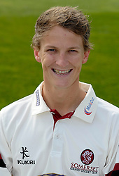 Somerset's Max Waller - Photo mandatory by-line: Harry Trump/JMP - Mobile: 07966 386802 - 17/03/15 - SPORT - Cricket - Somerset Press Call - The County Ground, Taunton, England.