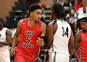 Tuff Crowd Power Forward Kenyon Martin Jr. (5) battles off a defender during a Drew League basketball game, Saturday, June 15, 2019, in Los Angeles.  (Dylan Stewart/Image of Sport)