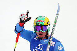 AUT, FIS Weltmeisterschaften Ski Alpin, Schladming 2013.09.02.2013, Planai, Schladming, AUT, FIS Weltmeisterschaften Ski Alpin, Abfahrt, Herren, im Bild Dominik Paris (ITA), 2. Platz // Dominik Paris of Italy, 2nd place, reacts after his run of mens Downhill during FIS Ski World Championships 2013 at the Planai Course, Schladming, Austria on 2013/02/09. EXPA Pictures © 2013, PhotoCredit: EXPA/ Martin Huber