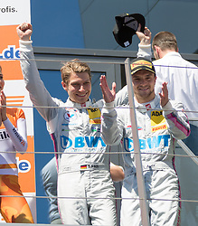 11.06.2017, Red Bull Ring, Spielberg, AUT, ADAC GT Masters, Spielberg, 2. Rennen, im Bild 2. Platz Sebastian Asch (GER)/ Lucas Auer (AUT) BWT Muecke Motorsport // 2nd placed German ADAC GT Masters driver Sebastian Asch/Austrian ADAC GT Masters driver Lucas Auer of BWT Muecke Motorsport during the 2nd race of the ADAC GT Masters at the Red Bull Ring in Spielberg, Austria on 2017/06/11. EXPA Pictures © 2017, PhotoCredit: EXPA/ Dominik Angerer