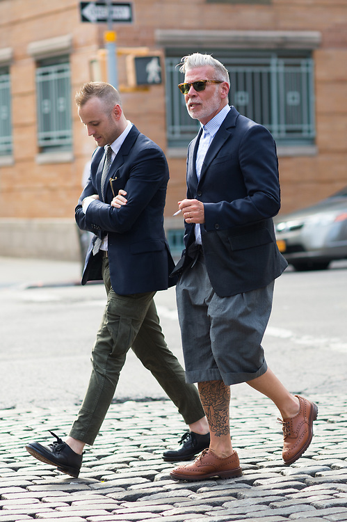 Matt Sebra and Nick Wooster at Industria Studios NYFWM