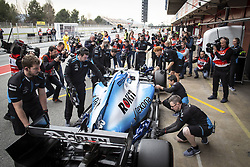 February 20, 2019 - Barcelona, Spain - 63 RUSSELL George (gbr), Williams Racing F1 FW42, action pitlane, during Formula 1 winter tests from February 18 to 21, 2019 at Barcelona, Spain - Photo  /  Motorsports: FIA Formula One World Championship 2019, Test in Barcelona, (Credit Image: © Hoch Zwei via ZUMA Wire)