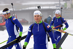 Peter Dokl  at training session of Slovenian biathlon team before new season 2009/2010,  on November 16, 2009, in Pokljuka, Slovenia.   (Photo by Vid Ponikvar / Sportida)