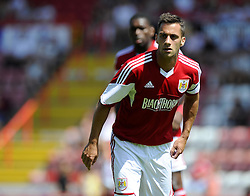 Bristol City's Sam Baldock - Photo mandatory by-line: Joe Meredith/JMP - Tel: Mobile: 07966 386802 13/07/2013 - SPORT - FOOTBALL - Bristol -  Bristol City v Glasgow Rangers - Pre Season Friendly - Bristol - Ashton Gate Stadium