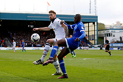 Mark Beevers of Bolton Wanderers and Ousmane Fane of Oldham Athletic - Mandatory by-line: Matt McNulty/JMP - 15/04/2017 - FOOTBALL - Boundary Park - Oldham, England - Oldham Athletic v Bolton Wanderers - Sky Bet League 1