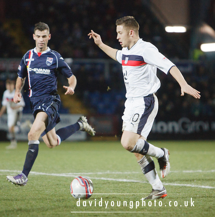 Dundee's John Baird  - Ross County v Dundee, Clydesdale Bank Scottish Premier League at Victoria Park, Dingwall.. - © David Young - www.davidyoungphoto.co.uk - email: davidyoungphoto@gmail.com
