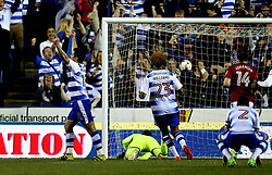 Yann Kermorgant of Reading celebrates scoring the winning goal against Fulham in the Playoff Semi-Final - Mandatory by-line: Robbie Stephenson/JMP - 16/05/2017 - FOOTBALL - Madejski Stadium - Reading, England - Reading v Fulham - Sky Bet Championship Play-off Semi-Final 2nd Leg