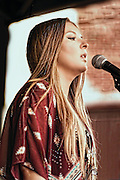 Bianca Ryan performing at the Hollystock 15 festival in Mount Holly, NJ. In 2006 she was the first winner of NBC's America's Got Talent at the age of eleven.
